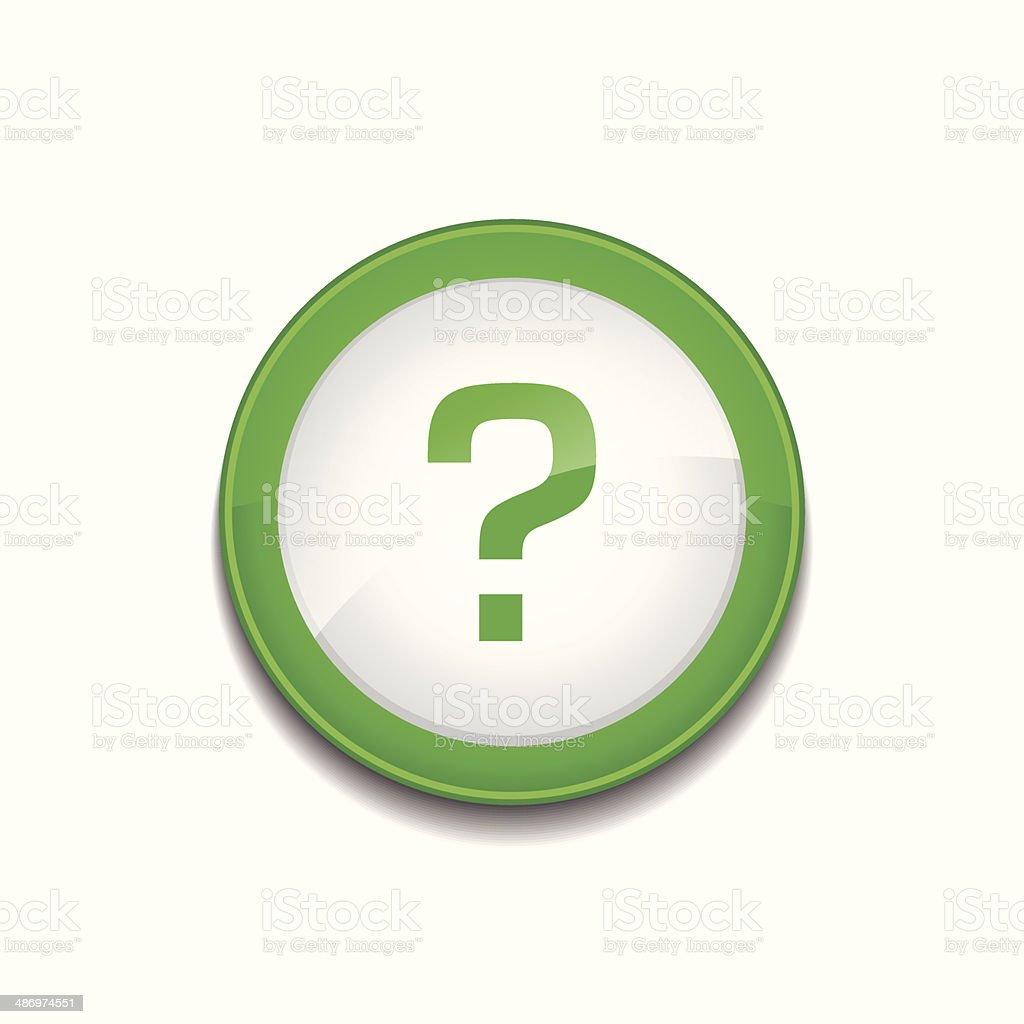 ヘルプサイン円形緑色のアイコンベクトルボタン アイコンのベクター