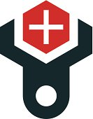 Help to those in need care logo icon