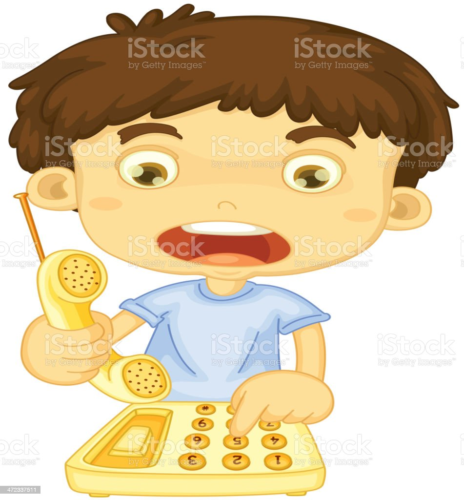 royalty free children who call for help clip art vector images rh istockphoto com Call Log Clip Art call for help clip art image