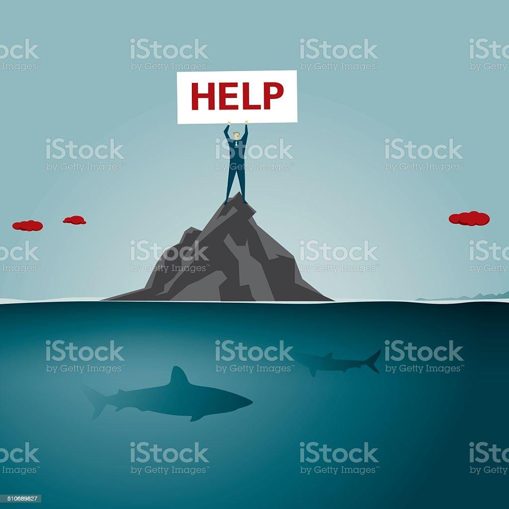help vector art illustration