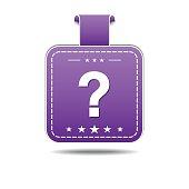 Help Violet Vector Icon Design