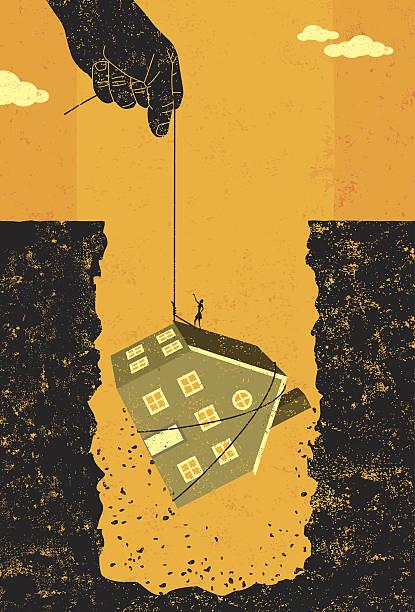 Ayuda con su deuda mortgage - ilustración de arte vectorial