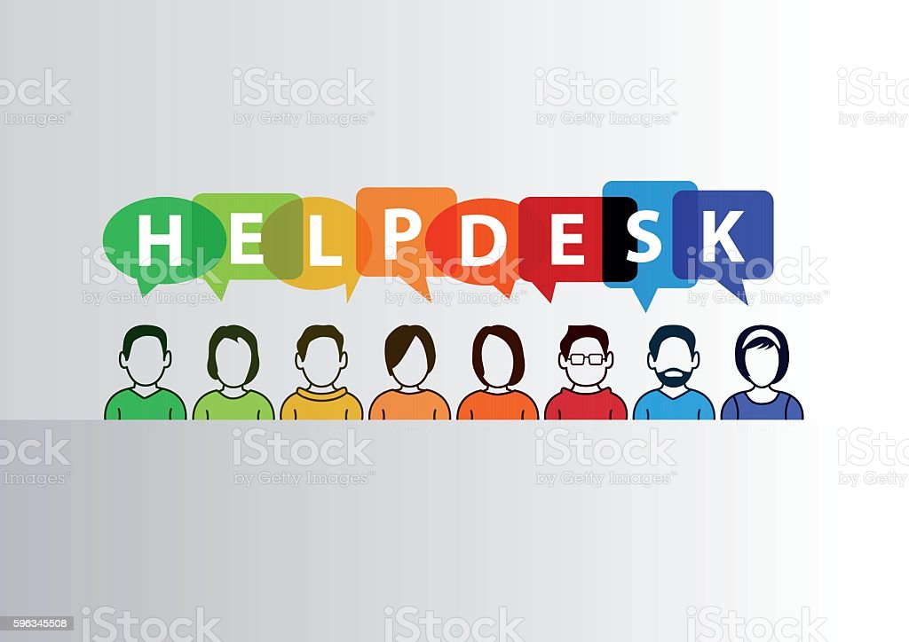Helpdesk vector illustration of group of call center employees royalty-free helpdesk vector illustration of group of call center employees stock vector art & more images of advice