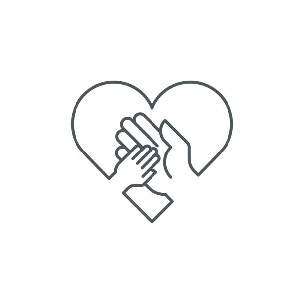 hilfe kind handsymbol - adoption stock-grafiken, -clipart, -cartoons und -symbole