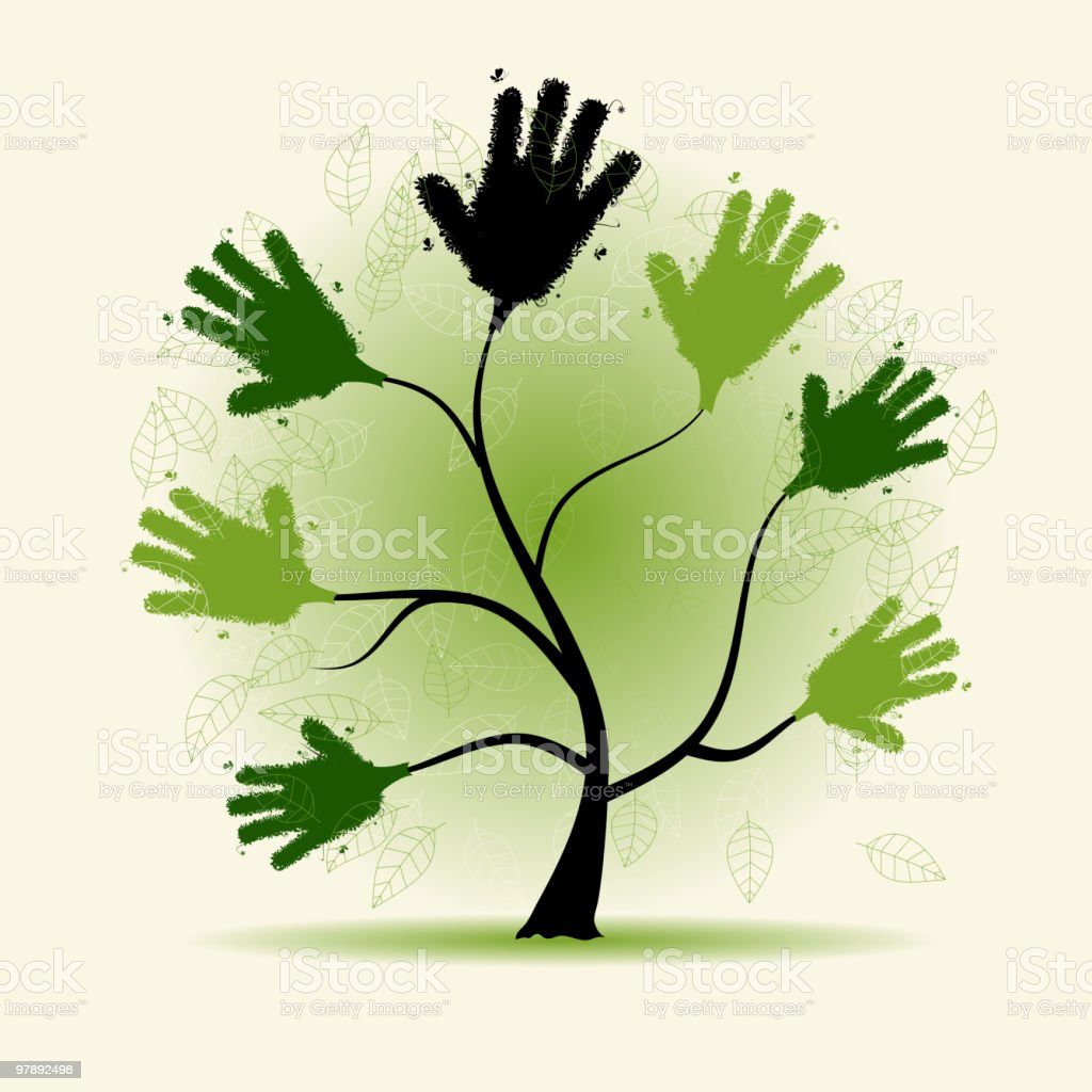 Helping hand, art tree royalty-free helping hand art tree stock vector art & more images of a helping hand
