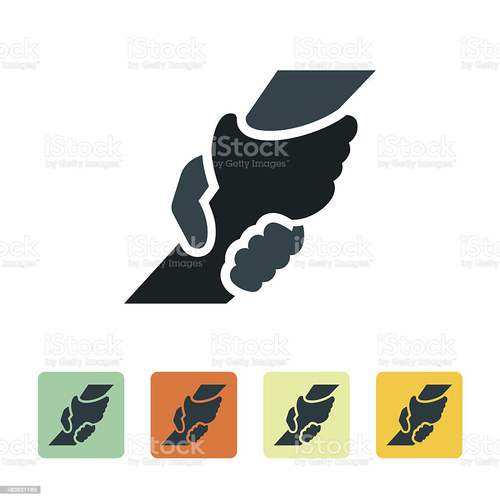 Helping Hand Icon vector art illustration