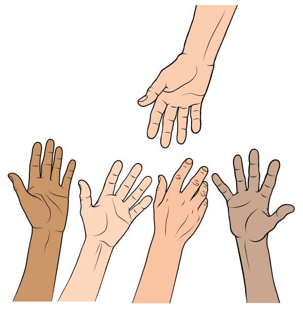 A helping hand illustration vector art illustration