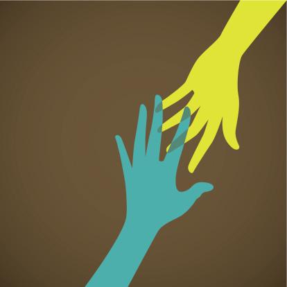 Pomoc Ręka Wsparcie Koncepcja Opieka Lub Organizacji Charytatywnej - Stockowe grafiki wektorowe i więcej obrazów Bieda - Problem społeczny