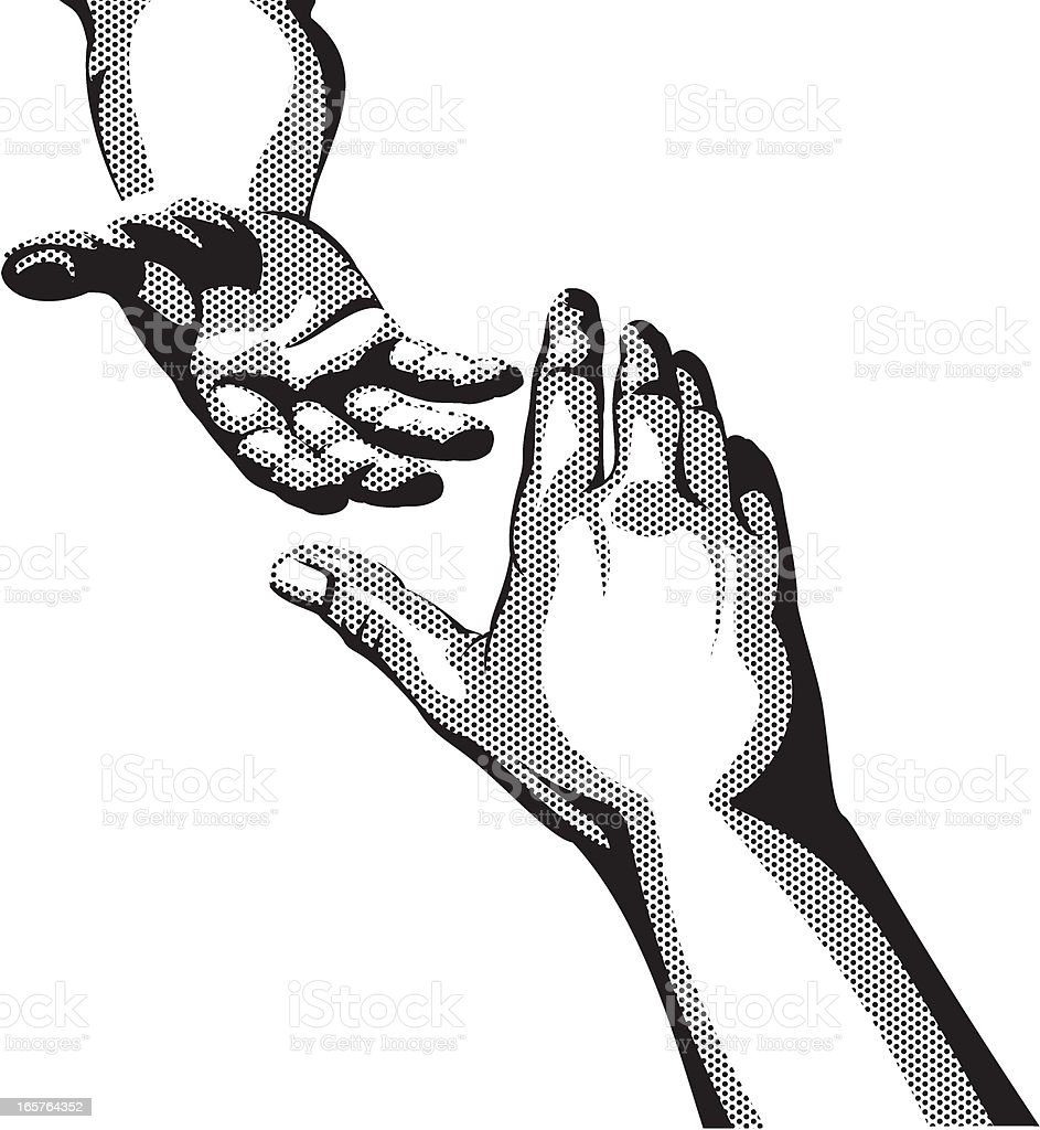 Helping Hand Stock Illustration - Download Image Now - iStock