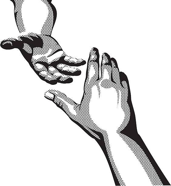 Helping Hand vector art illustration