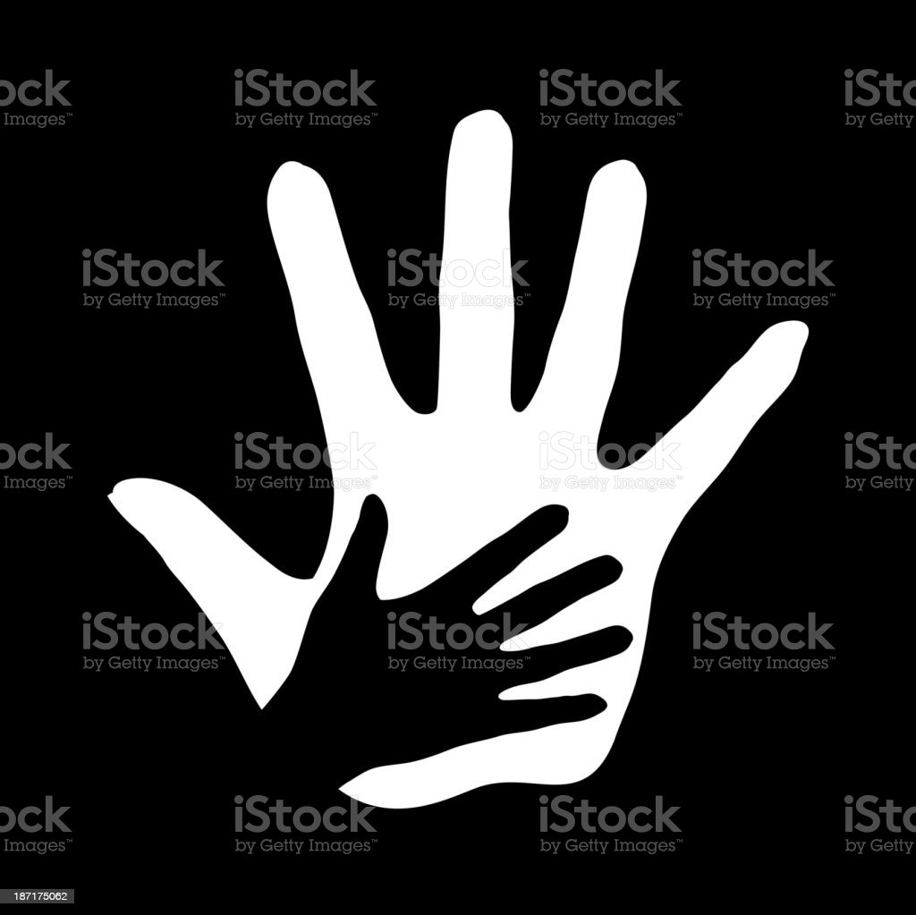 Helping hand. royalty-free stock vector art