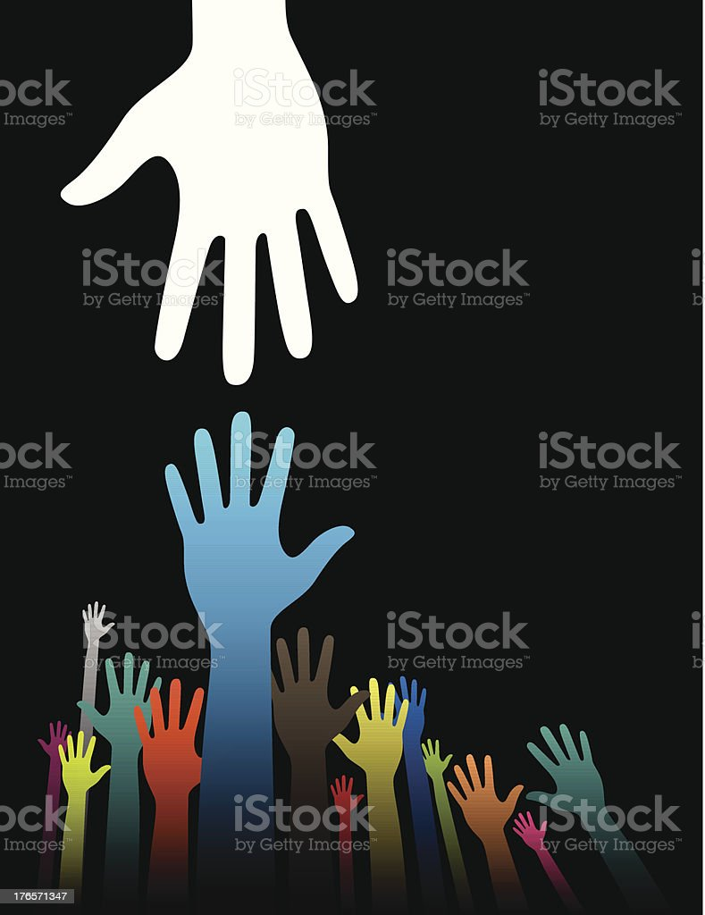 Helping Hands royalty-free stock vector art