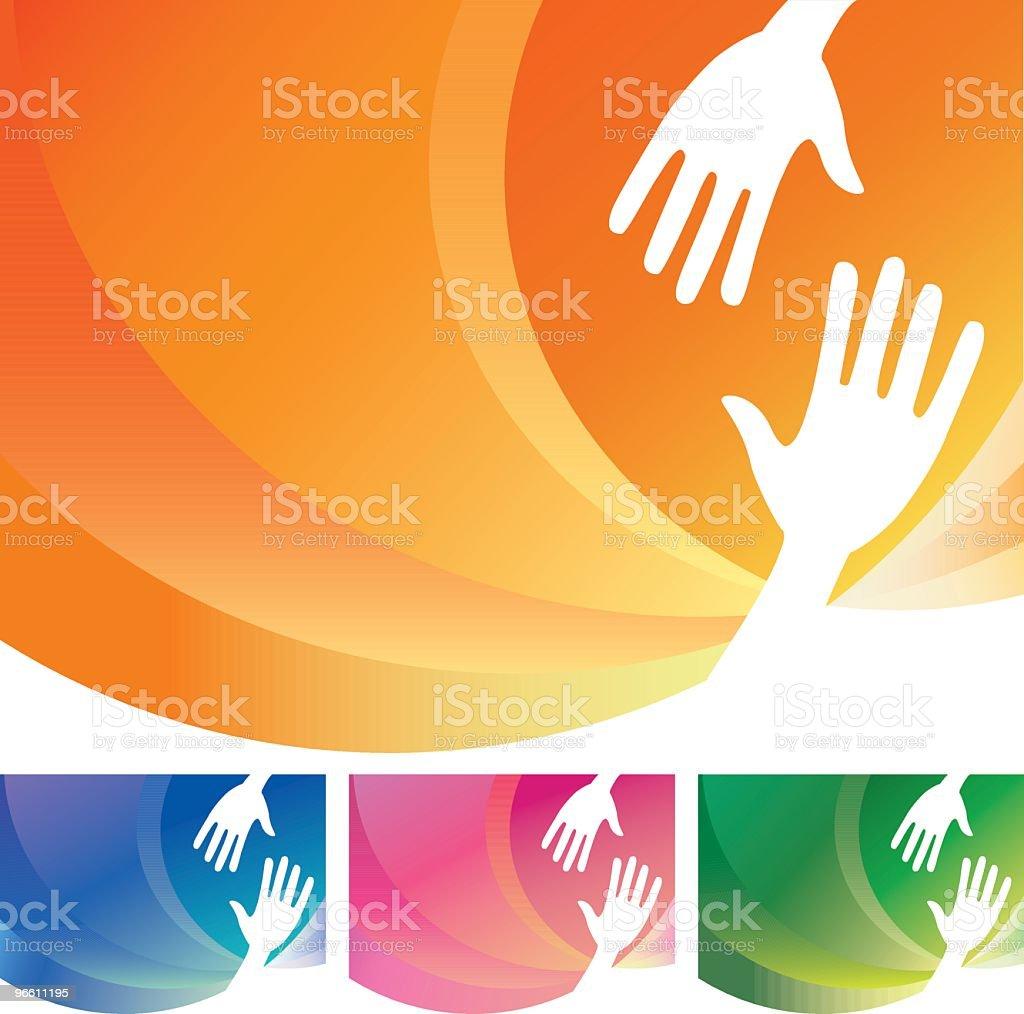 Helping hands - Royaltyfri Assistans vektorgrafik