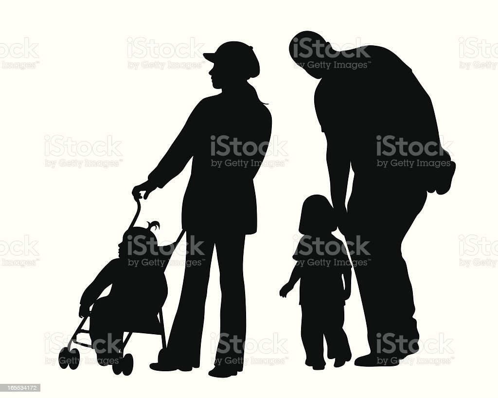 Helping Hands Vector Silhouette royalty-free stock vector art