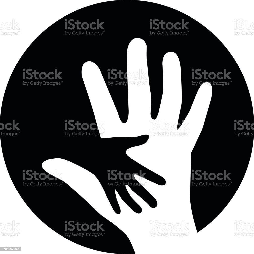 Aider les gens. Illustration de concept de charité - Illustration vectorielle