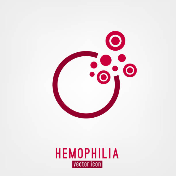 Hemophlia unique logo design Hemophlia unique logo design. Editable vector illustration in bright red color isolated on white background. Medical, health care and educational concept useful for logotype, event symbol or sign creating anemia stock illustrations