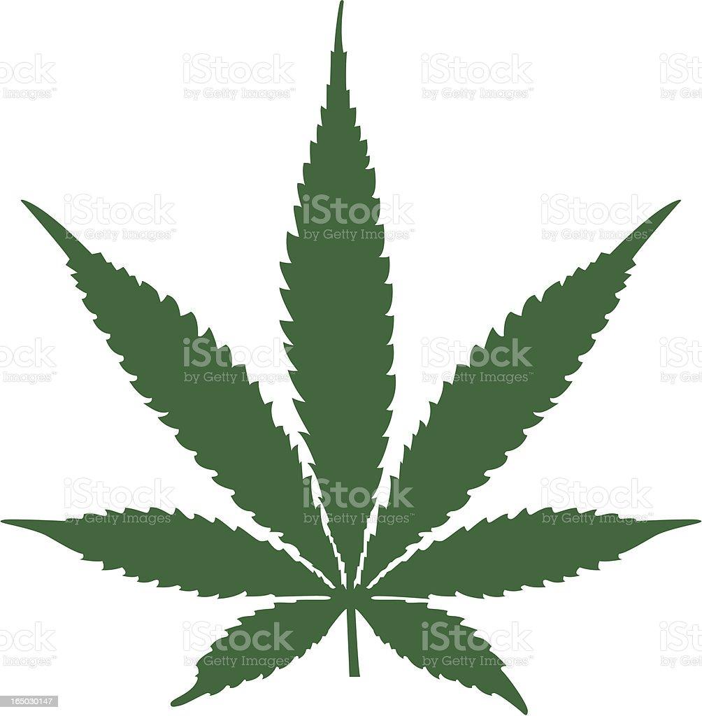 Hemp Leaf Silhouette (vector) royalty-free hemp leaf silhouette stock vector art & more images of cannabis plant