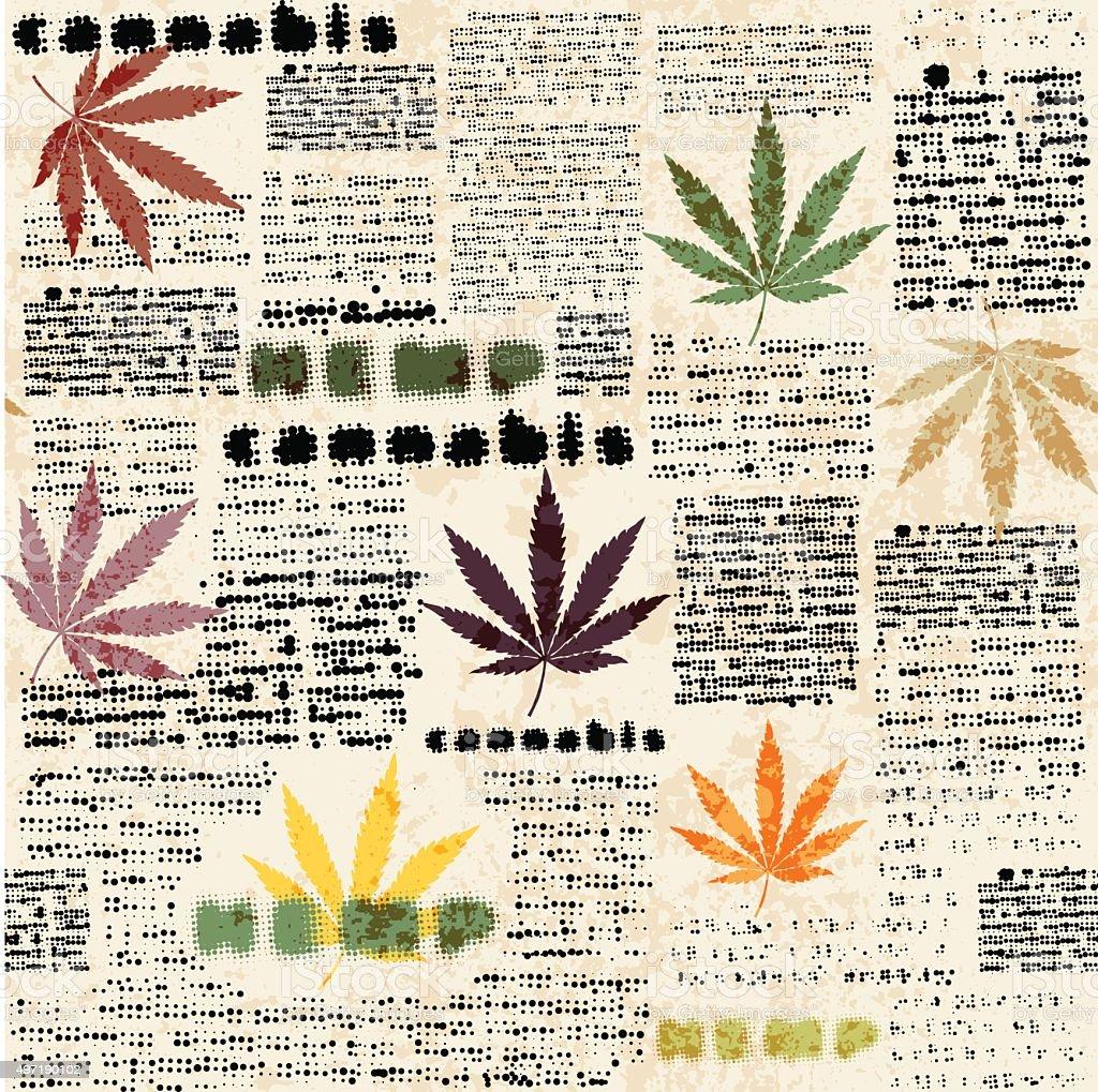 Hemp leaves newspaper royalty-free hemp leaves newspaper stock vector art & more images of abstract