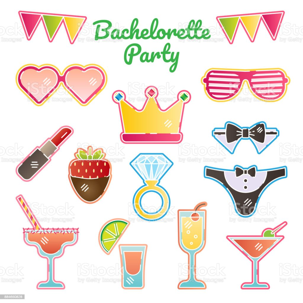 Poule / bachelorette party - Illustration vectorielle