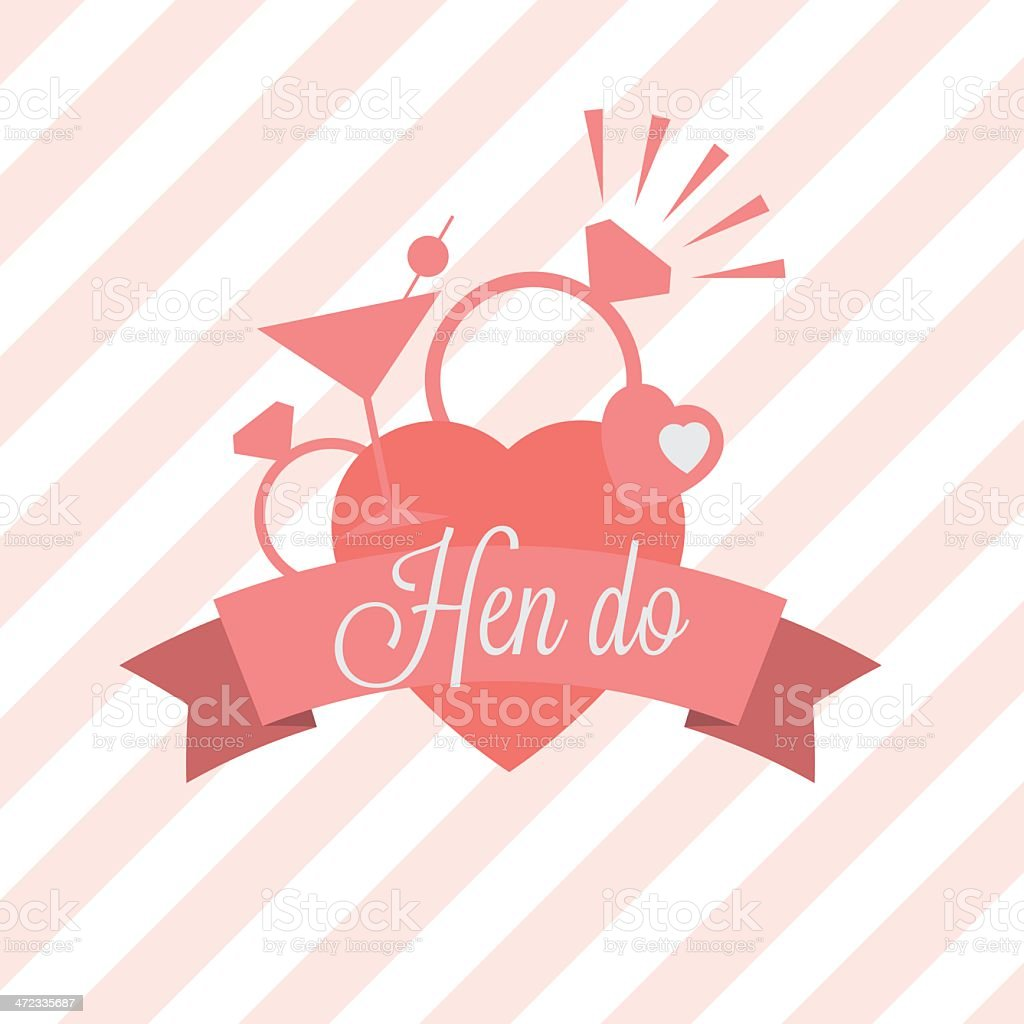 Hen party invitation vector art illustration