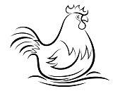 istock hen symbol 1299750496