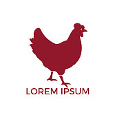 Hen vector design. Icon for groceries, meat stores, butcher shop, farmer market.
