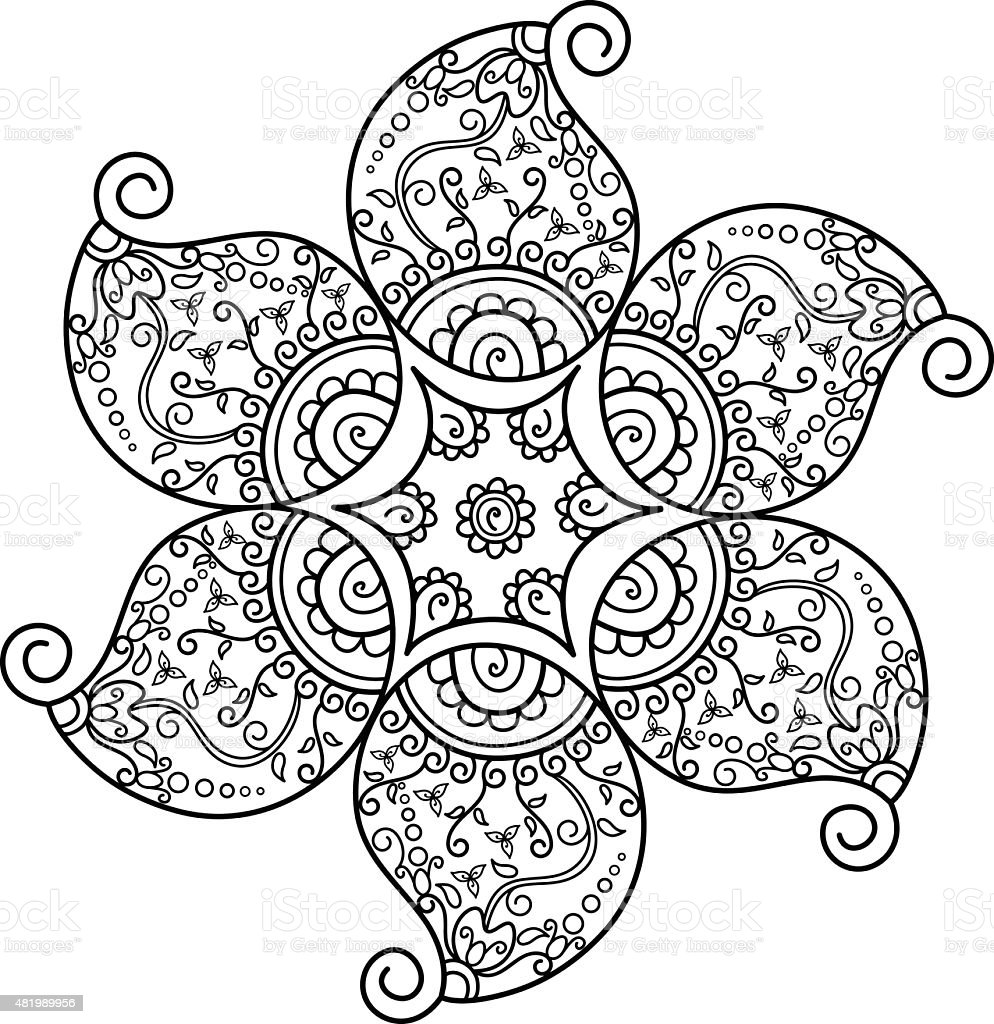 Henna Flower Stock Vector Art More Images Of 2015 481989956 Istock