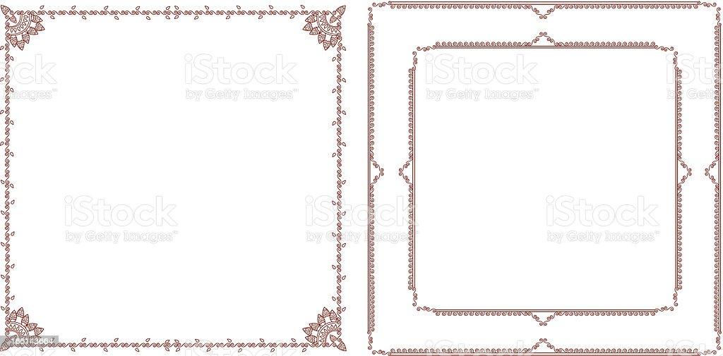 henna frames