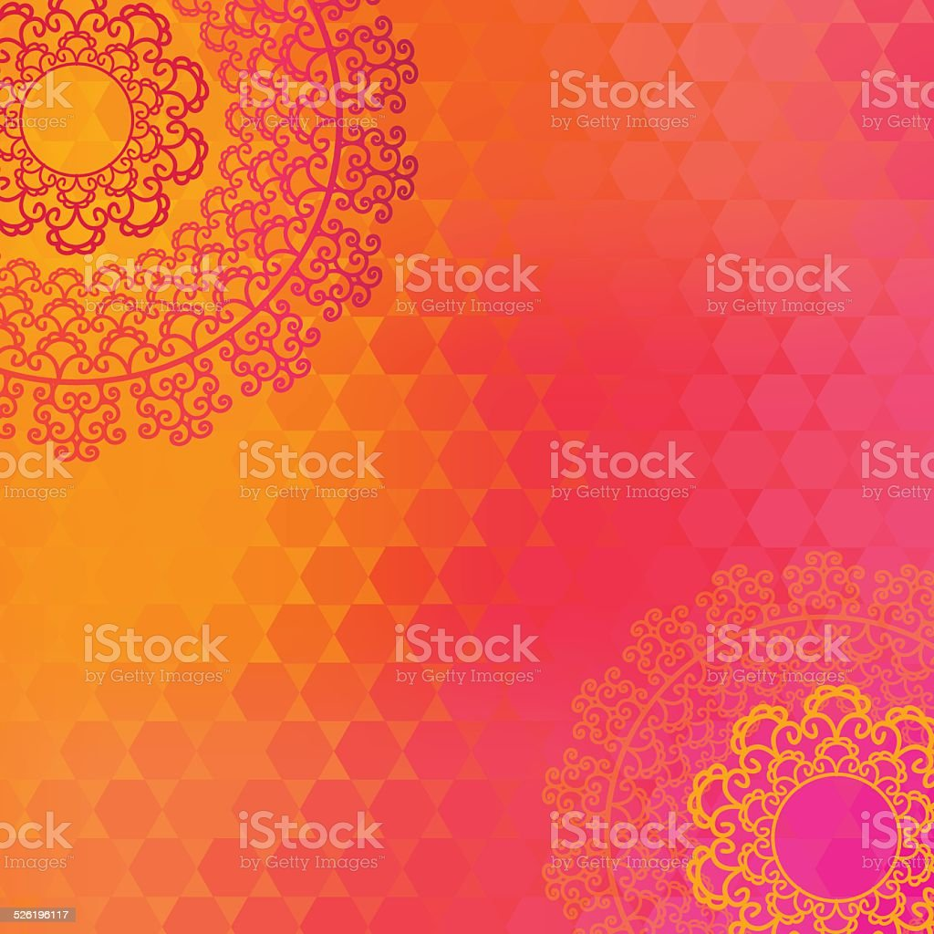 Henna Mandala Design vector art illustration