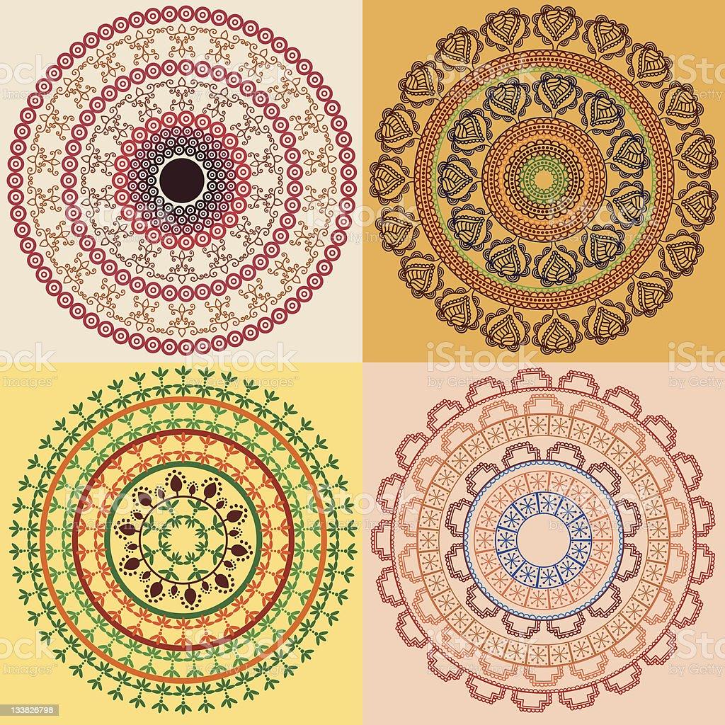 Henna Mandala Designs Stock Vector Art More Images Of Arabic Style Istock