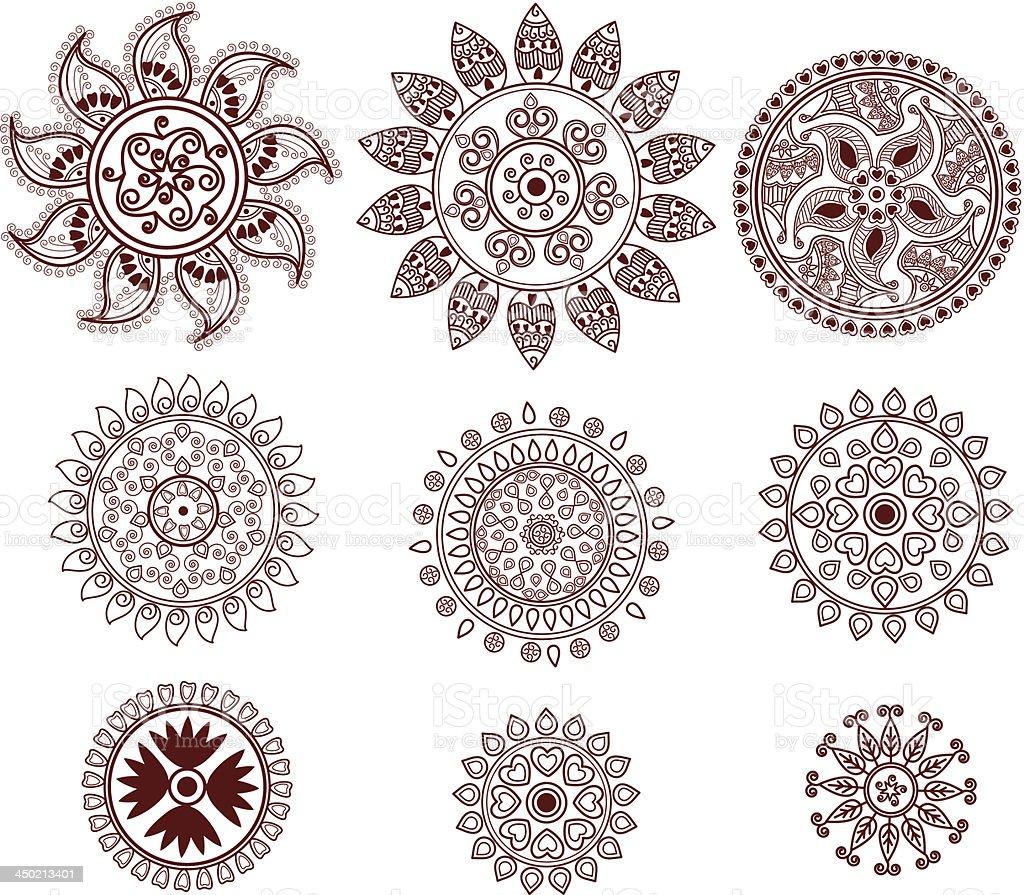 Henna Mini Circles royalty-free stock vector art
