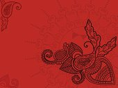 Henna paisley background