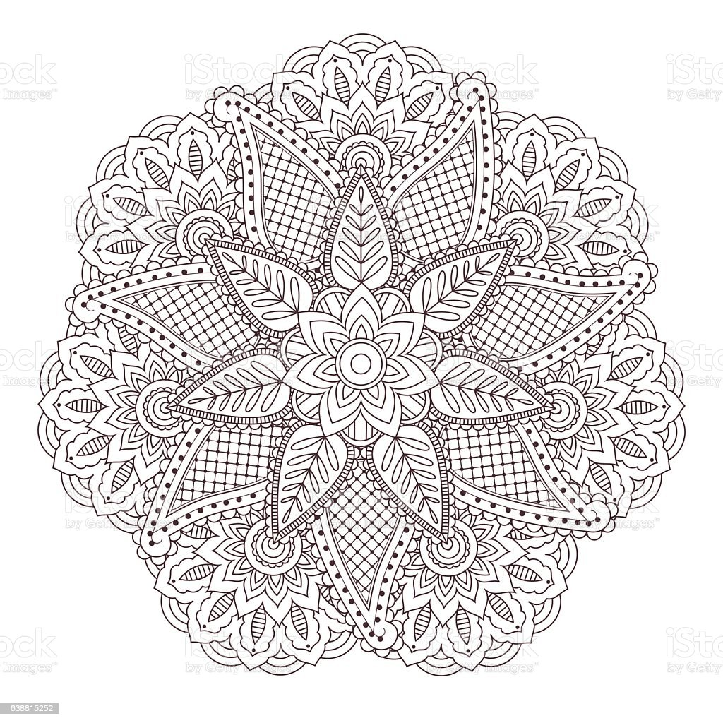 Henna paisley mehndi tattoo doodle seamless vector pattern vector art illustration