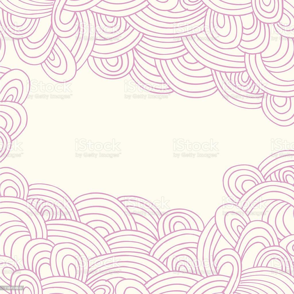 Henna Tattoo Wave: Henna Tattoo Abstract Waves Border Stock Illustration