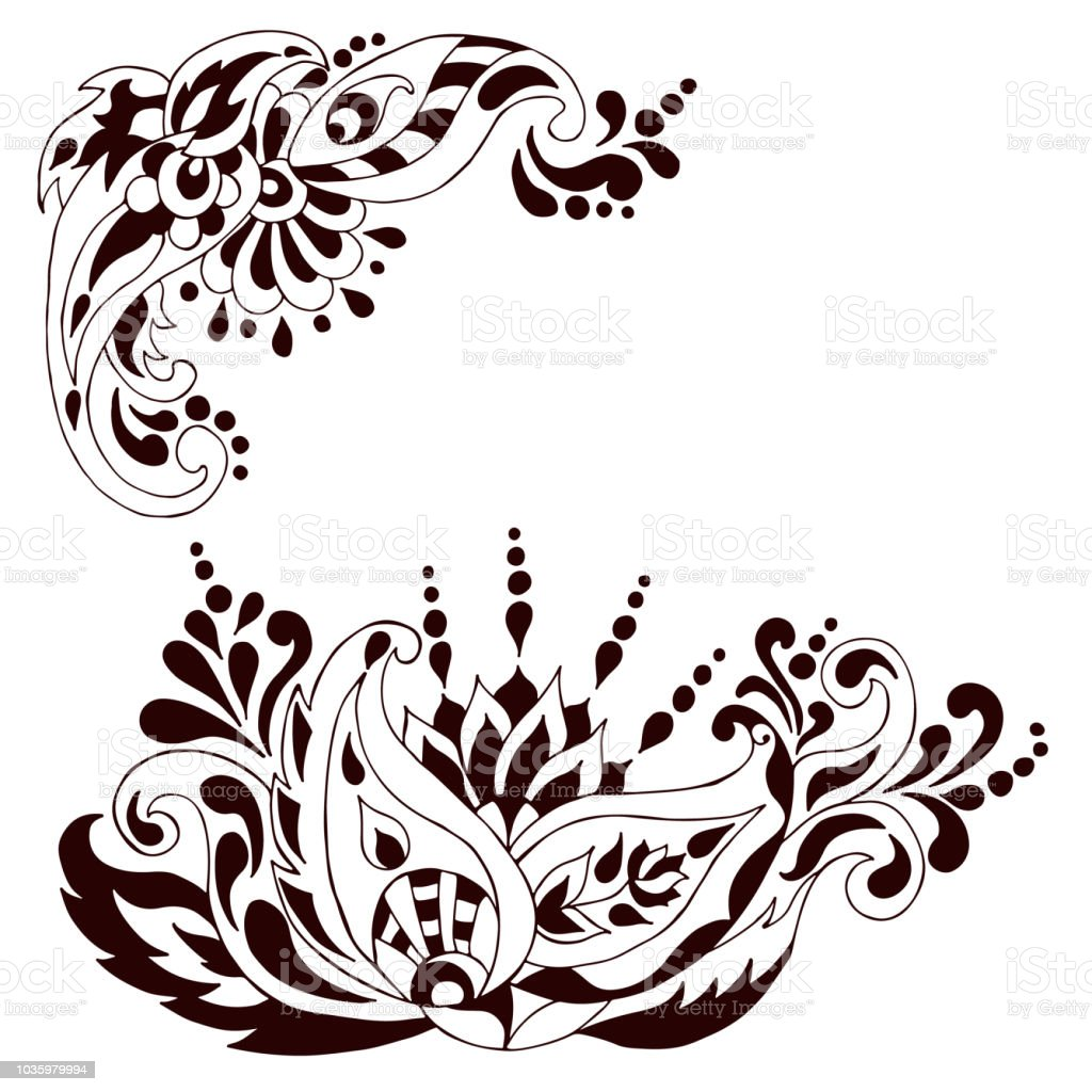 Henna Tattoo Doodle Vector Elements Stock Vector Art More Images