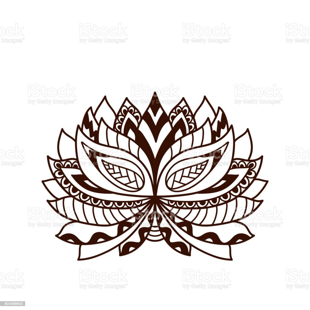 Henna tattoo doodle vector lotus flower stock vector art more henna tattoo doodle vector lotus flower royalty free henna tattoo doodle vector lotus flower stock izmirmasajfo Image collections