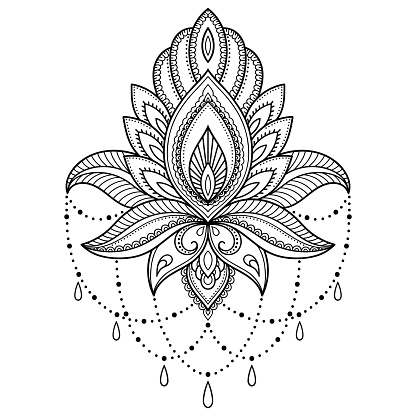 henna tattoo flower template  indian style ethnic floral