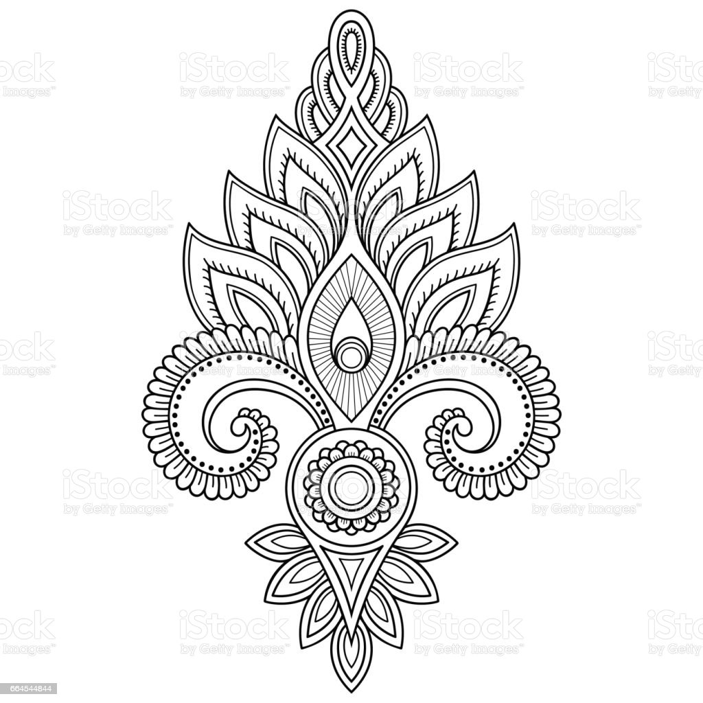 99244b9f92827 Henna tattoo flower template in Indian style. Ethnic floral paisley -  Lotus. Mehndi style. Ornamental pattern in the oriental style. -  Illustration .