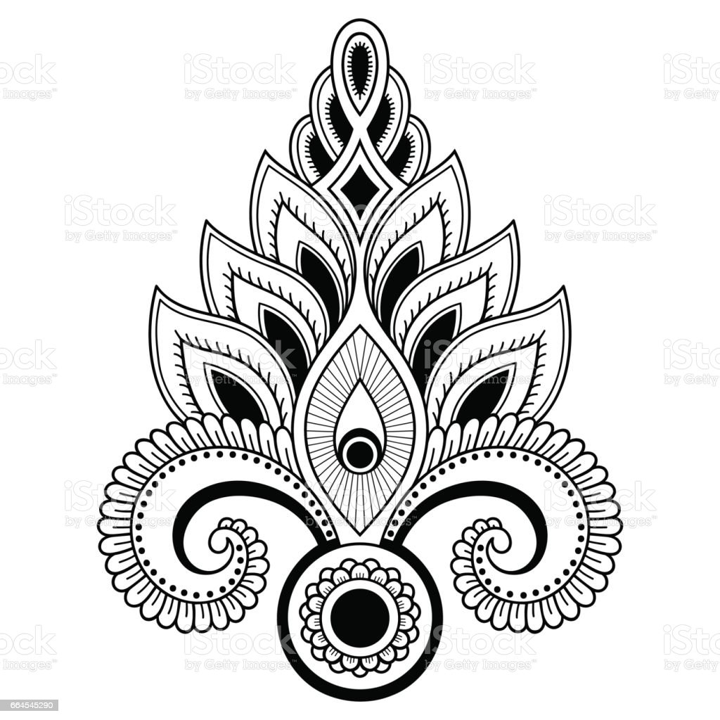 Henna tattoo flower template in indian style ethnic floral paisley henna tattoo flower template in indian style ethnic floral paisley lotus mehndi style izmirmasajfo Image collections