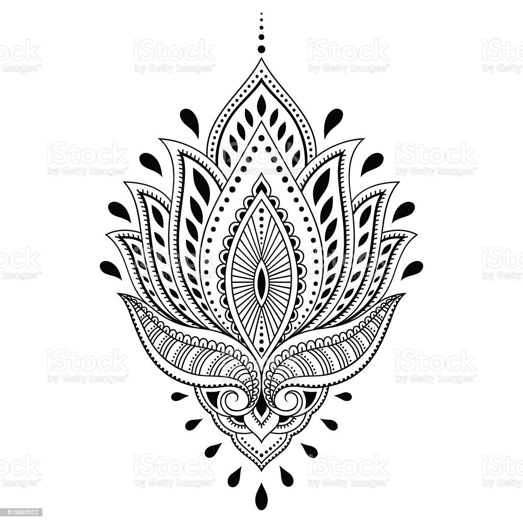 Henna tattoo flower template in indian style ethnic paisley lotus henna tattoo flower template in indian style ethnic paisley lotus royalty free henna mightylinksfo