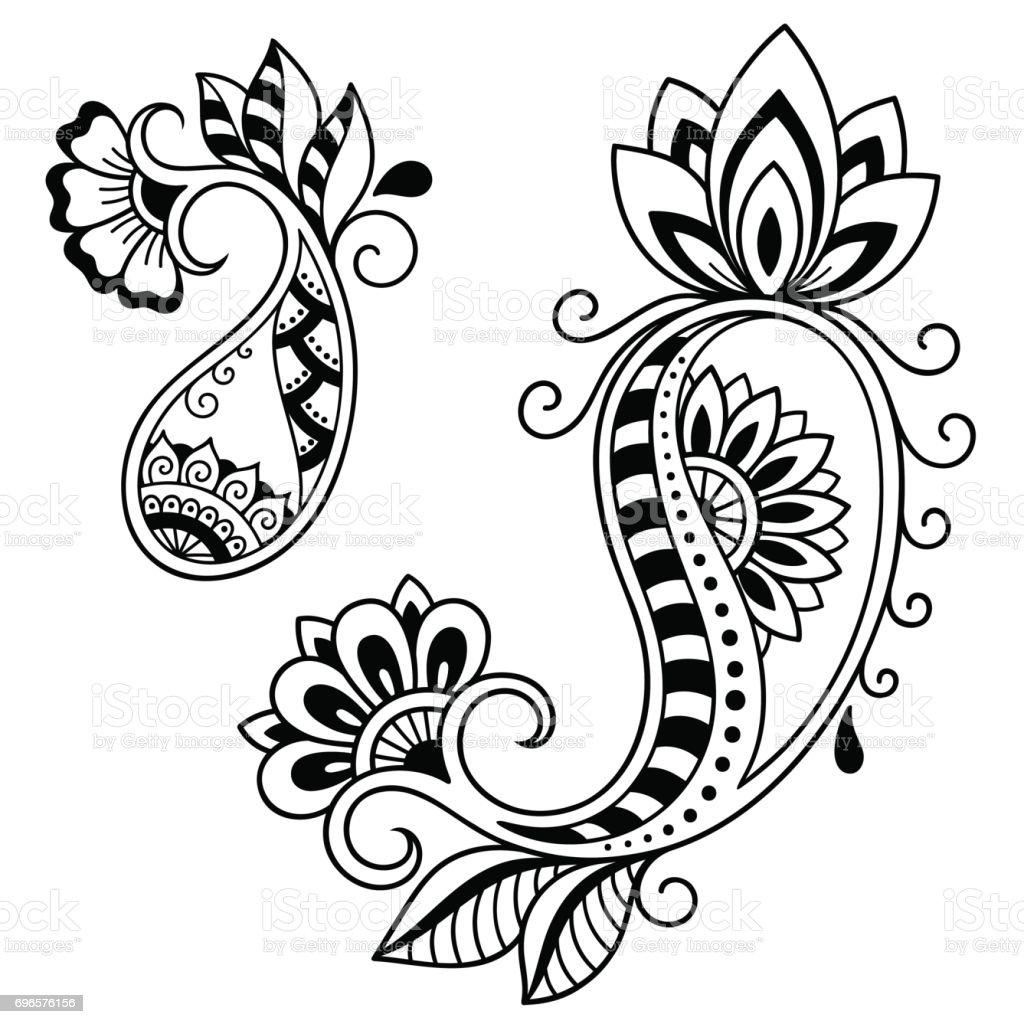 Henna Tattoo Flower Template Mehndi Style Set Of Ornamental Patterns ...