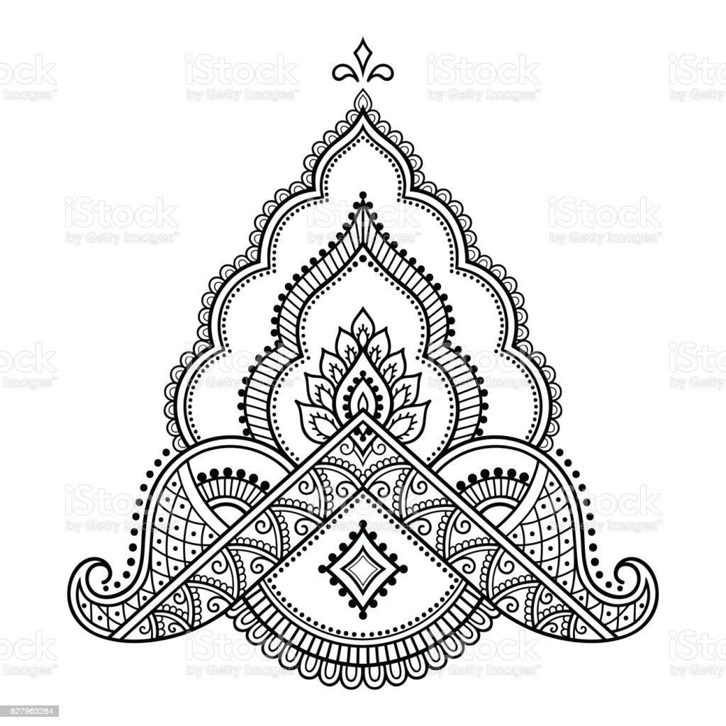 ヘナ タトゥーの花テンプレート一時的な刺青スタイルオリエンタル