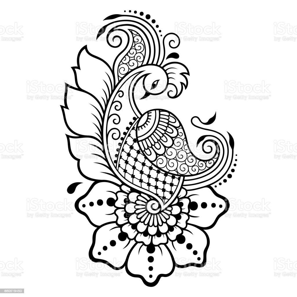 henna tattoo flower template mehndi style set of ornamental rh istockphoto com henna vector art free henna vector art