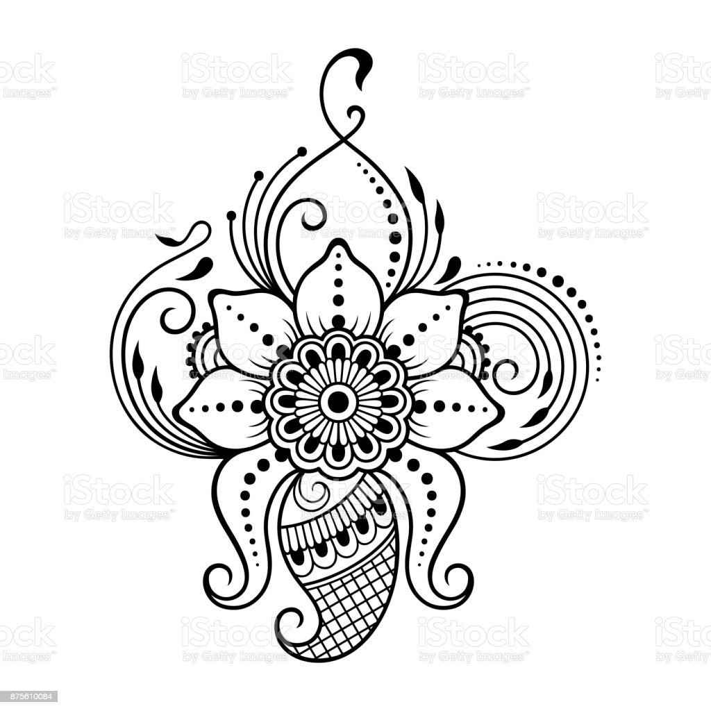 This is a graphic of Luscious Printable Henna Stencils