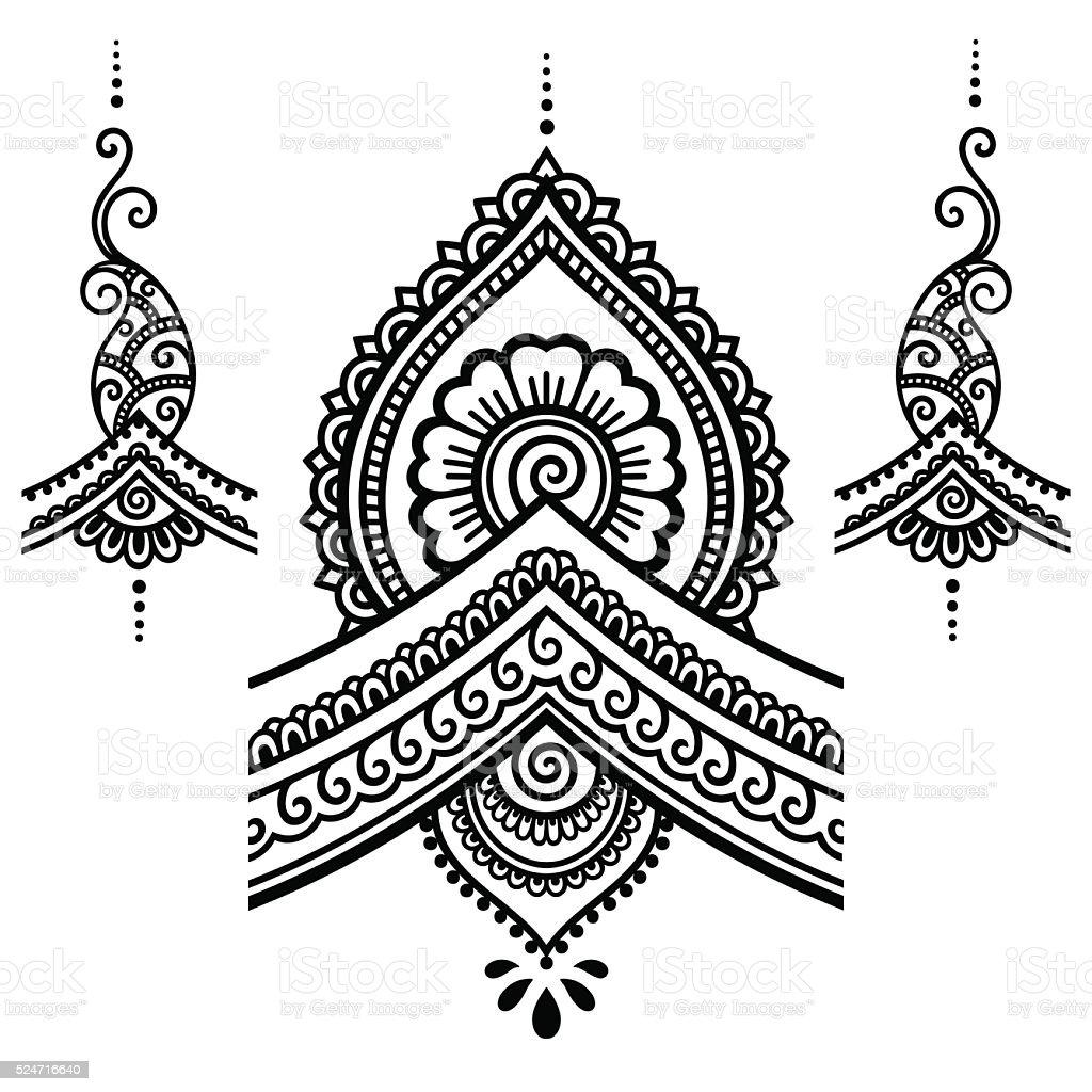 Henna Tattoo Flower Templatemehndi Stock Vector Art More Images Of