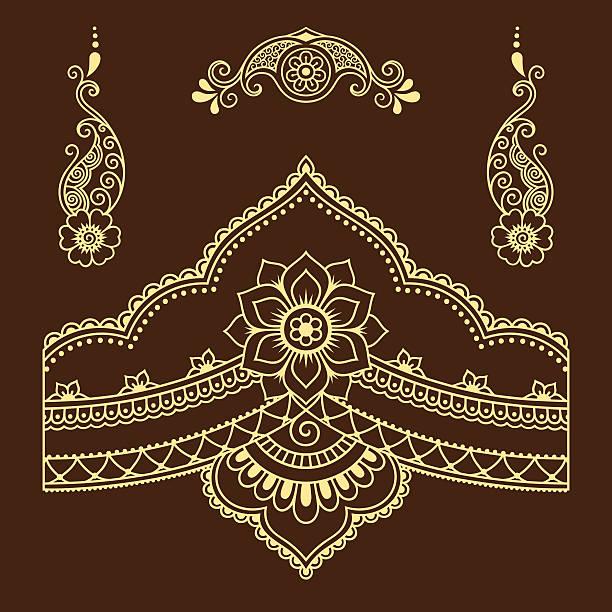 Henna Tattoo Vector: Top 60 Henna Hands Clip Art, Vector Graphics And