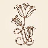 Henna tattoo flowers