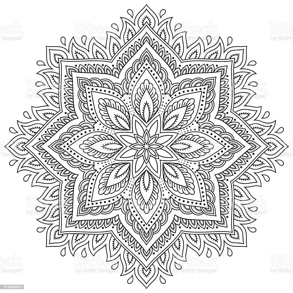 tatua z henny mehndi mandala w stylu wz r kolorowanka stockowe grafiki wektorowe i wi cej. Black Bedroom Furniture Sets. Home Design Ideas