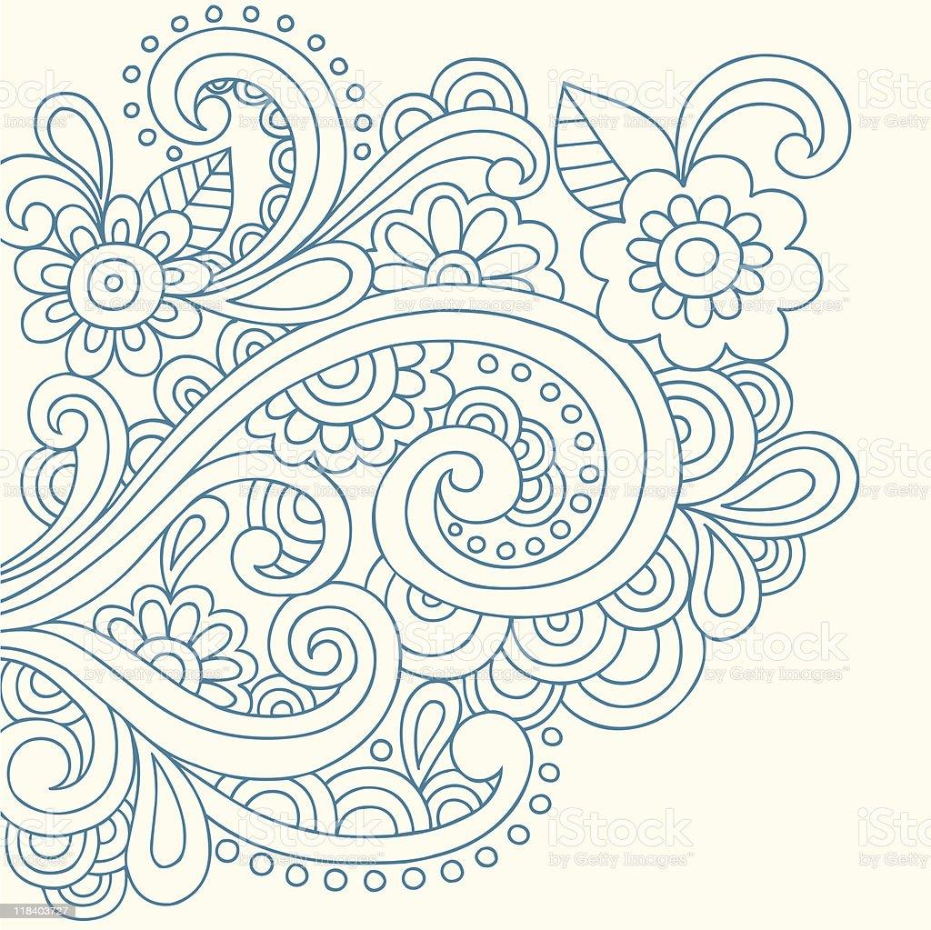 Henna Tattoo Vector: Henna Tattoo Paisley Doodle Vector Stock Illustration