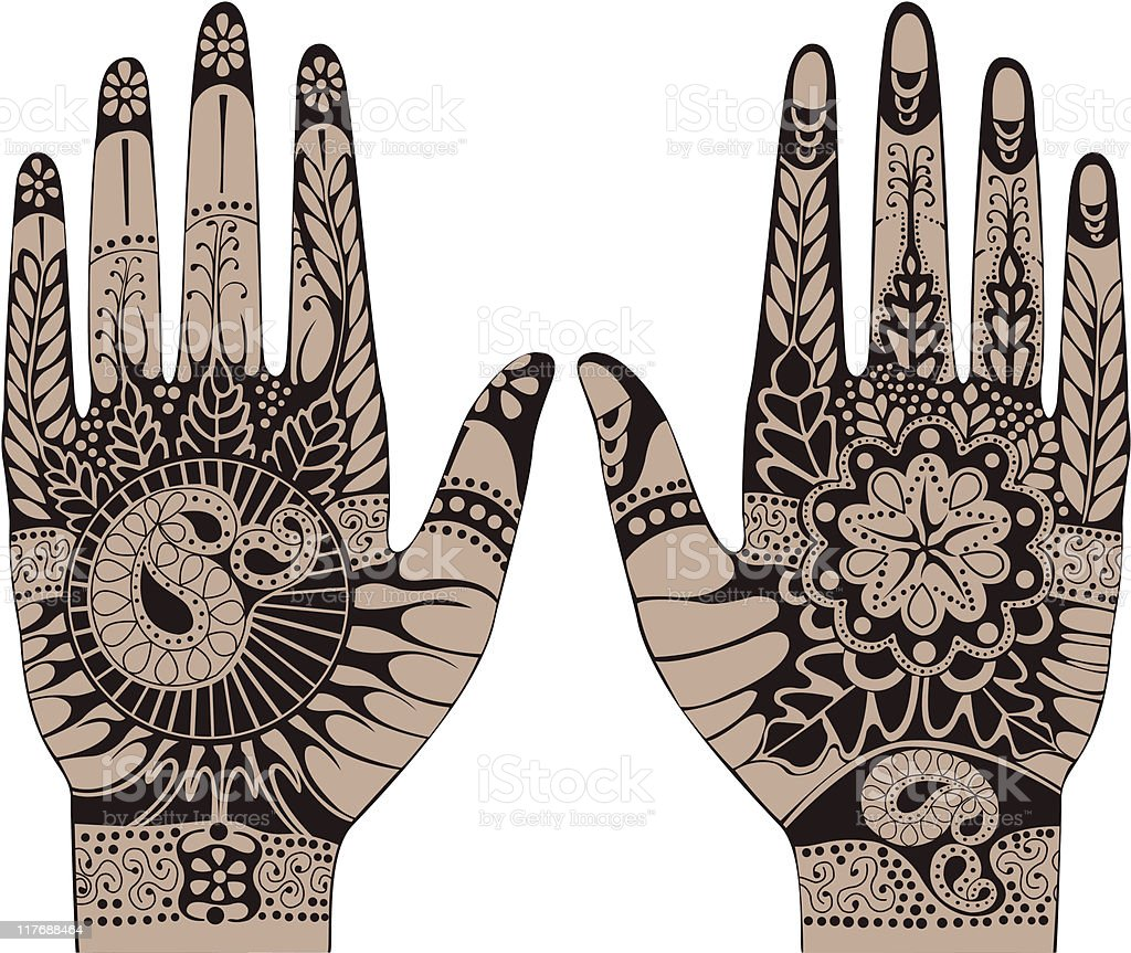 henna tattoos on hands stock vector art more images of art rh istockphoto com Free Vector Clip Art Free Vector Art Swirls